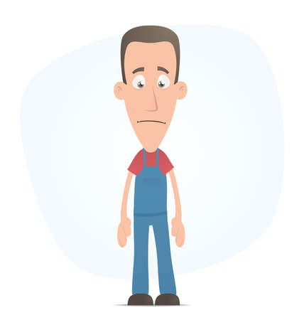 pipefitter: Illustration of a cartoon cute character for use in presentations, etc.