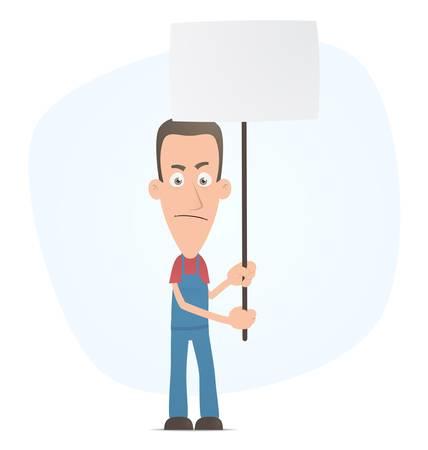 show bill: Ilustraci�n de un personaje lindo para su uso en presentaciones, etc..