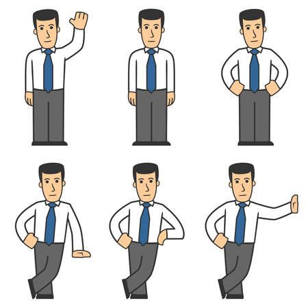 Manager character set 01 Vector