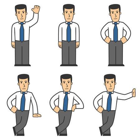 Manager character set 01 Illustration