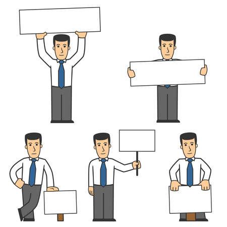caricaturas de personas: 02 De conjunto de caracteres de administrador  Vectores
