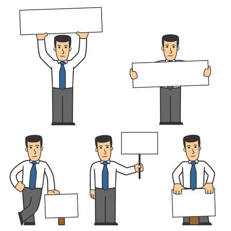 communication cartoon: Manager character set 02 Illustration