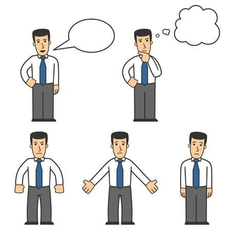 hombre caricatura: 04 De conjunto de caracteres de administrador