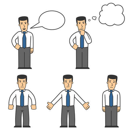 Manager character set 04 Vector