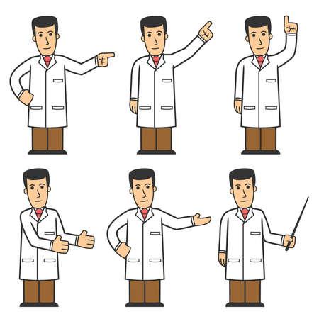 hospital cartoon: Set di caratteri di Doctor 03 Vettoriali