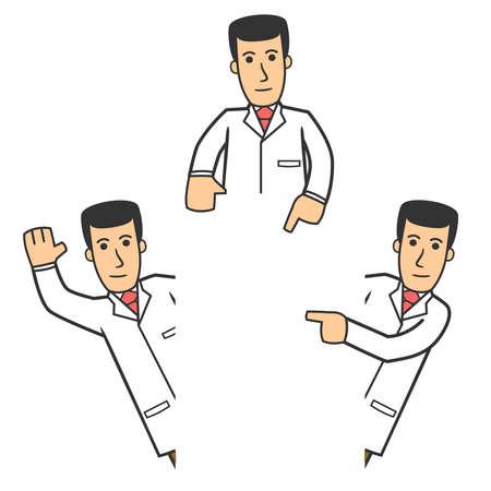 healthcare workers: Doctor character set 06