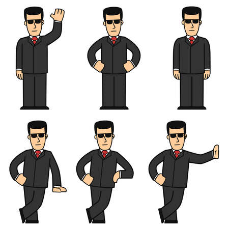 Bodyguard character set 01 Stock Vector - 8146722