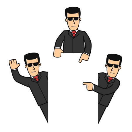 Bodyguard character set 01 Vector