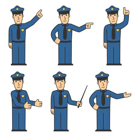 guardaespaldas: 03 De conjunto de caracteres de la polic�a  Foto de archivo