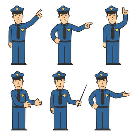 Police character set 03 Stock Photo - 8240705