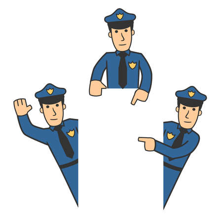security staff: Police character set 06