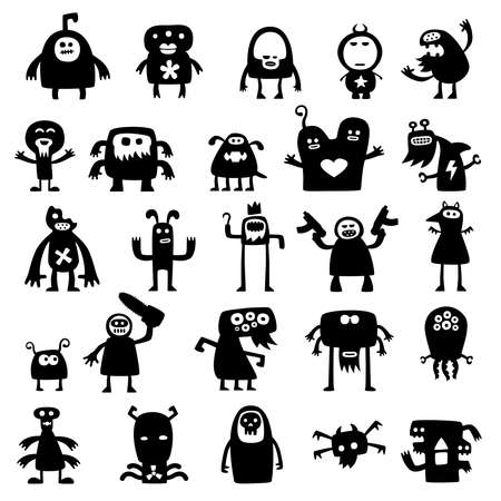monsters silhouettes  photo