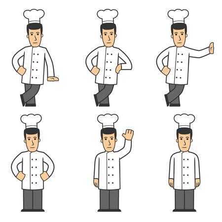 Chef character set 01 photo