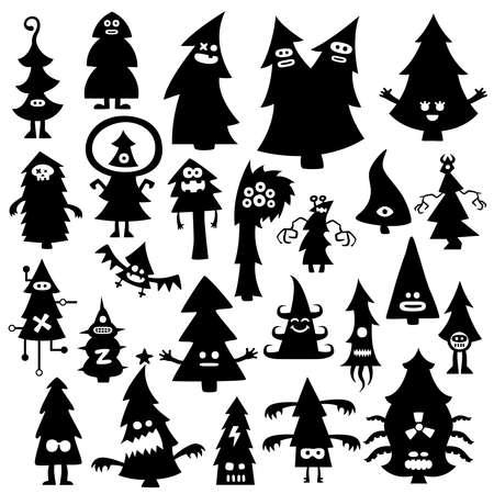 cartoon demon: christmas tree