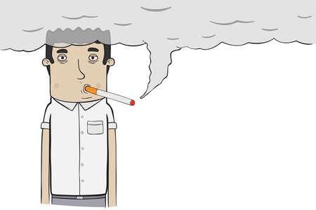 흡연자: smoker 일러스트