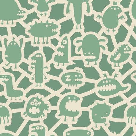 soldered: Monsters pattern Illustration