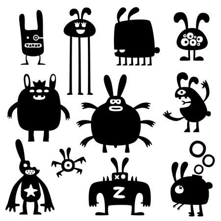 crazy rabbits set03 Vector