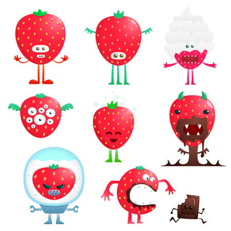 wild berry: Funny strawberry Illustration