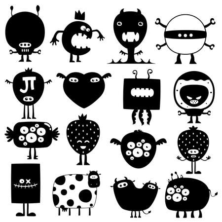 Funny monsters Stock Vector - 8601146