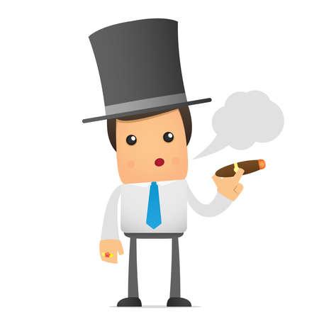 bank manager: empleado de Oficina de dibujos animados divertido para su uso en presentaciones, etc..