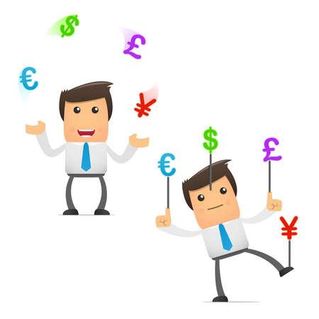 bank manager: conjunto de administrador de dibujos animados divertido