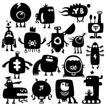 funny monsters Stock Vector - 8862803