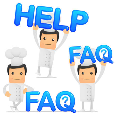 set of funny cartoon chef Stock Vector - 8862802