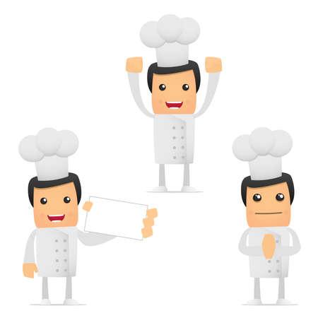 set of funny cartoon chef Stock Vector - 8862776