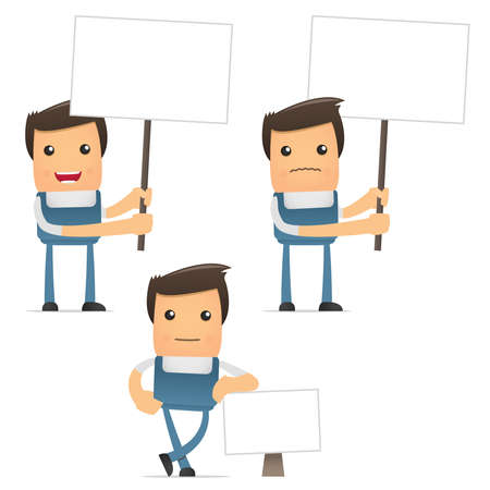 set of funny cartoon manager Stock Vector - 8862815