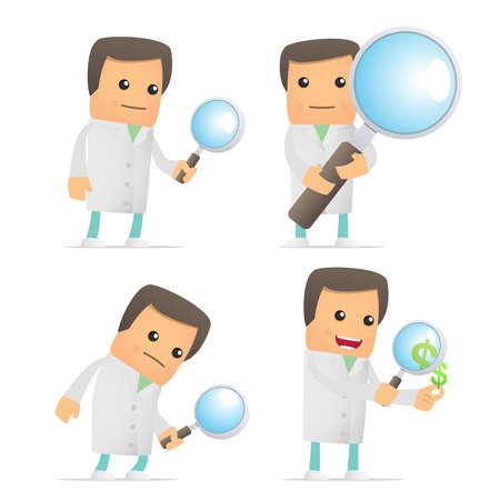 set of funny cartoon doctor Stock Vector - 8862835