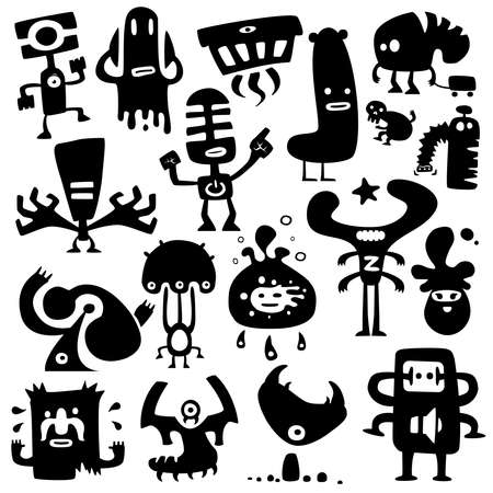funny monsters Stock Vector - 8951482