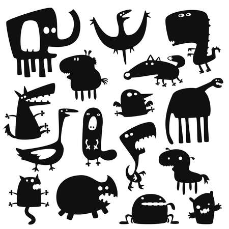 funny animals Stock Vector - 9069253