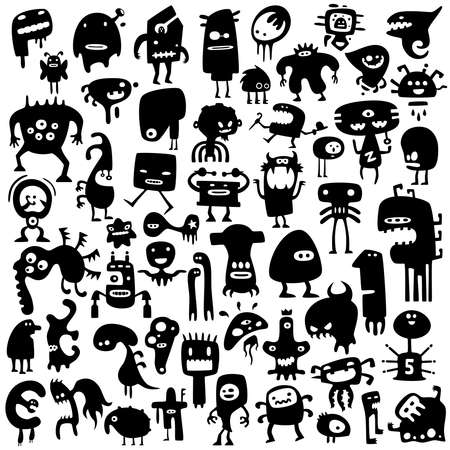 funny monsters Stock Vector - 9069259