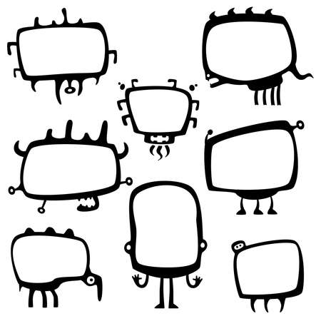 funny frame monsters Vector