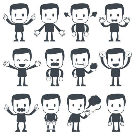 business stress: Hombre de icono Vectores