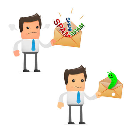 set of funny cartoon manager Stock Vector - 9116604