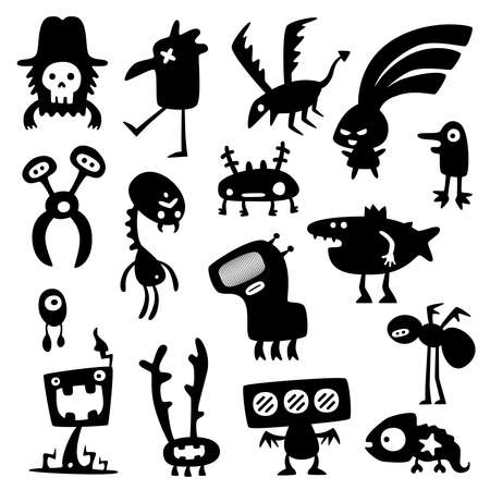 funny monsters Stock Vector - 9207406