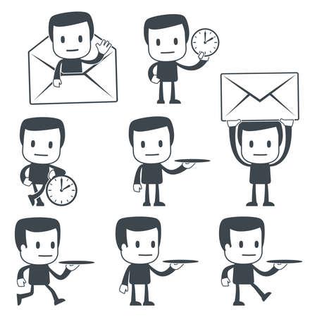 mail man: Hombre de icono Vectores