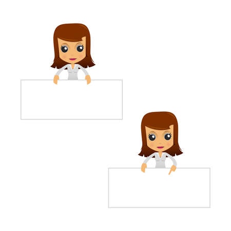 businesswomen: set of funny cartoon businesswoman