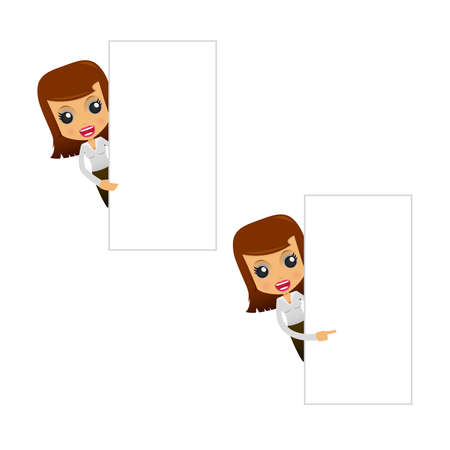 businesswoman suit: set of funny cartoon businesswoman