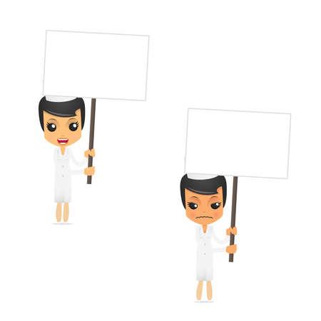 enfermero caricatura: conjunto de enfermera divertidos dibujos animados Vectores