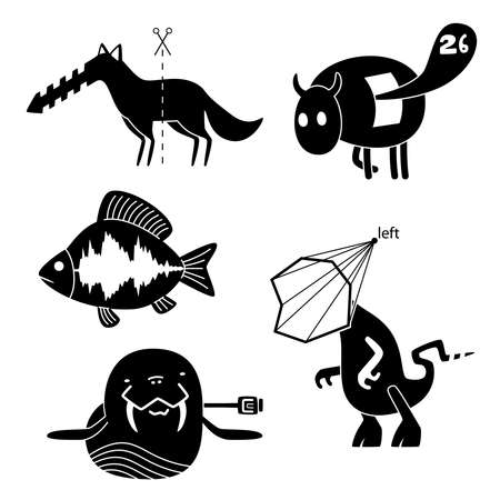 crazy animals Stock Vector - 9716883
