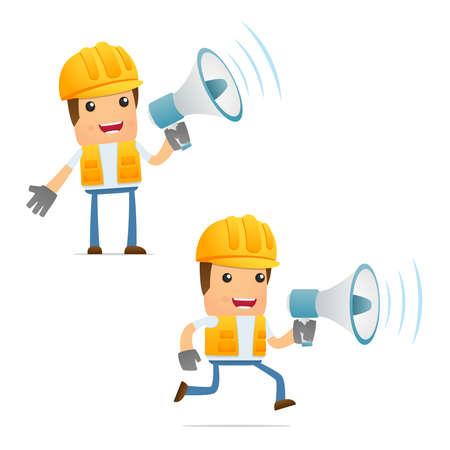 worker cartoon: conjunto de generador de dibujos animados divertidos Vectores