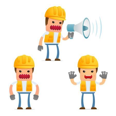 set of funny cartoon builder Stock Vector - 9847938