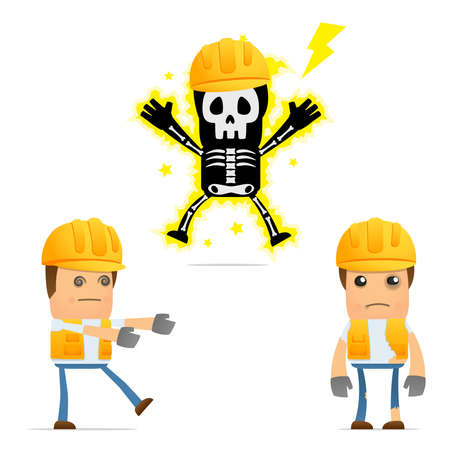lesiones: conjunto de generador de caricatura divertida Vectores