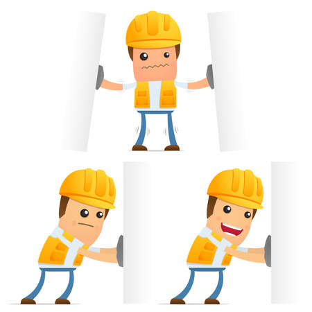 set of funny cartoon builder Stock Vector - 9847927