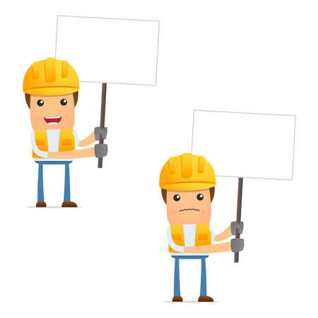 ingeniero caricatura: conjunto de generador de caricatura divertida Vectores
