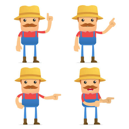 granjero: conjunto de los agricultores funny cartoon