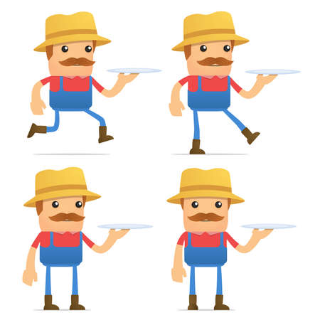 set of funny cartoon farmer Stock Vector - 9933992