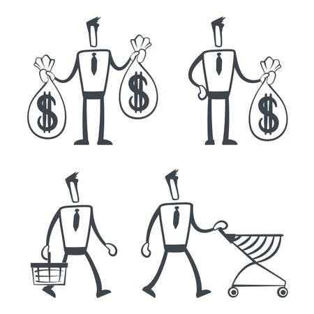 e market: Sketch man